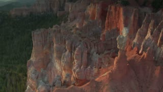 Aerial Shot Of Bryce Canyon National Park Circling Rugged Features