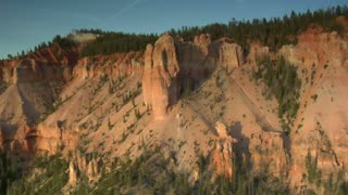 Aerial Shot Of Bryce Canyon National Park  Cliff Face