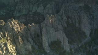 Aerial Shot Of Bryce Canyon National Park Looking Down Into Rugged Spires