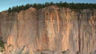 Aerial Shot Of Bryce Canyon National Park  Passing Flat Cliff