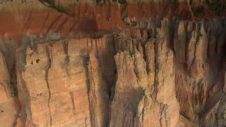 Aerial Shot Of Bryce Canyon National Park Passing Rugged Spires