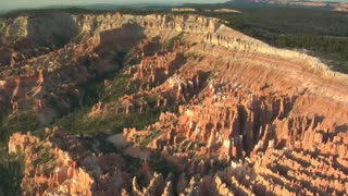 Aerial Shot Of Bryce Canyon National Park Wide Shot