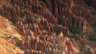 Aerial Shot Of Bryce Canyon National Park Zoom Out Wide