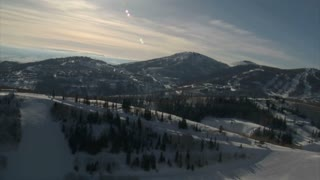 Aerial Shot Of Deer Valley Resort Park City Utah