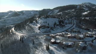 Aerial Shot Of Deer Valley Utah