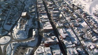 Aerial Shot Of Downtown Park City Utah