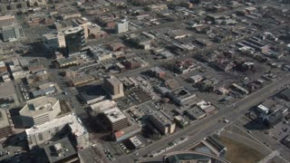 Aerial Shot Of Downtown Salt Lake City