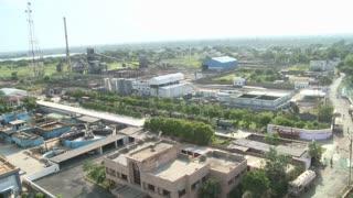Aerial Shot of Factory in India