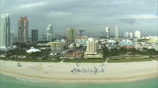 Aerial Shot of Hotels and a Miami Beach 2