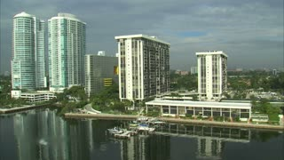 Aerial Shot of Hotels and Apartment Buildings in Miami 10
