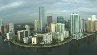 Aerial Shot of Hotels and Apartment Buildings in Miami 11