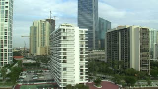 Aerial Shot of Hotels and Apartment Buildings in Miami 3