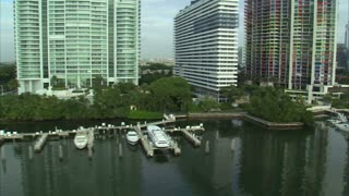 Aerial Shot of Hotels and Apartment Buildings in Miami 4