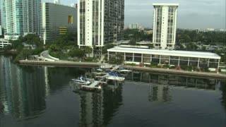 Aerial Shot of Hotels and Apartment Buildings in Miami 5