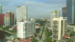 Aerial Shot of Hotels and Apartment Buildings in Miami 6