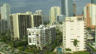 Aerial Shot of Hotels and Apartment Buildings in Miami 9