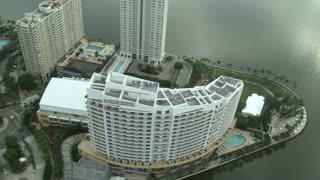Aerial Shot of Hotels in Miami