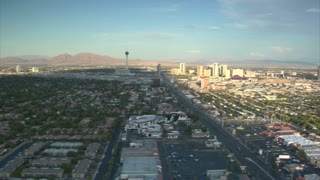 Aerial Shot Of Las Vegas Near Strip Daytime
