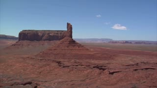 Aerial Shot Of Monument Valley Buttes Wobbly