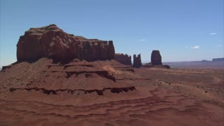 Aerial Shot Of Monument Valley Buttes