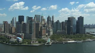 Aerial Shot of New York City Skyline