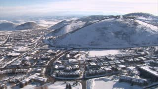 Aerial Shot Of Park City Utah