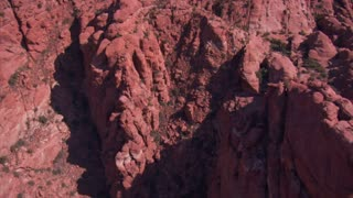 Aerial Shot Of Red Cliffs And Mountains St George Utah