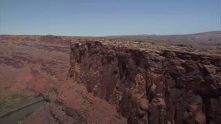 Aerial Shot Of Redrock Mountain Biking Moab Utah