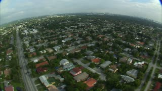 Aerial Shot of Residential Miami