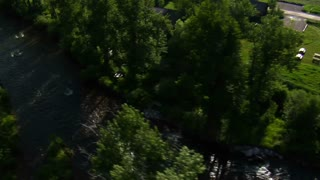 Aerial Shot Of River From Above