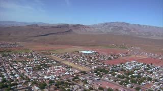 Aerial Shot Of St George Utah