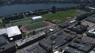 Aerial Shot Over Mit Practice Fields, Cambridge, Massachusetts