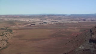 Aerial Shots Of Red Rock Desert Buttes