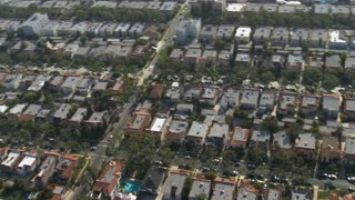 Aerial Suburban House Rows