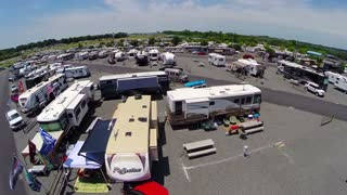 aerial sweep over rv trailer event