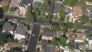 Aerial Town Houses In Neighborhood