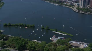 Aerial View Boston Along Charles River 2