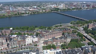 Aerial View Boston Charles River