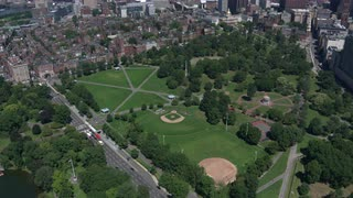 Aerial View Boston Downtown Park