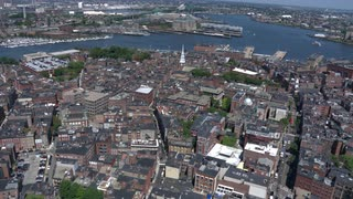 Aerial View Boston North End