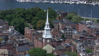 Aerial View Boston Old North Church