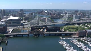 Aerial View Boston Zakim Bridge