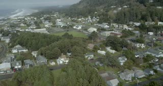 Aerial View of an Oregon Coastal Neighborhood