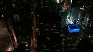 Aerial View of Bustling Times Square at Night 2