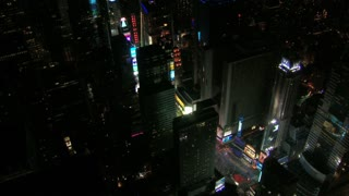 Aerial View of Bustling Times Square at Night 4