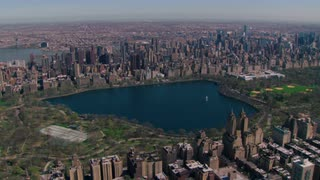 Aerial View of Central Park Lake