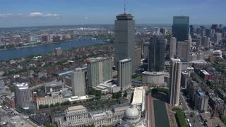 Aerial View Of Downtown Boston 8
