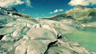 aerial view of epic ice glacier landscape scenery