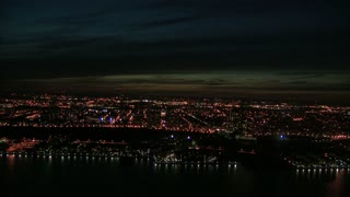Aerial View of Manhattan Island at Twilight 1