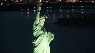 Aerial Zoom to Statue of liberty Book